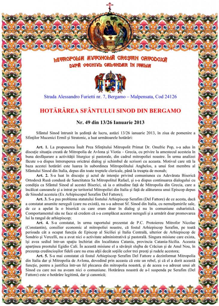 Microsoft Word - Hotararea 13-26 ianuarie 2013.doc