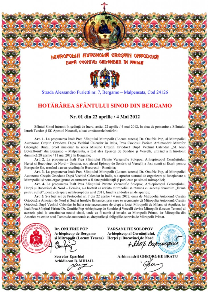 Microsoft Word - Hotararea 01-22 aprilie 2012.doc