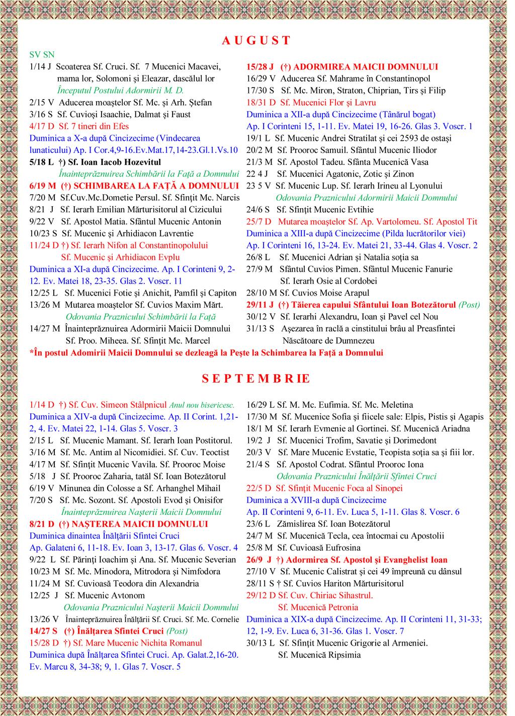 Calendar Crestin Ortodox.Calendar Crestin Ortodox Stil Vechi 2014 Pdf