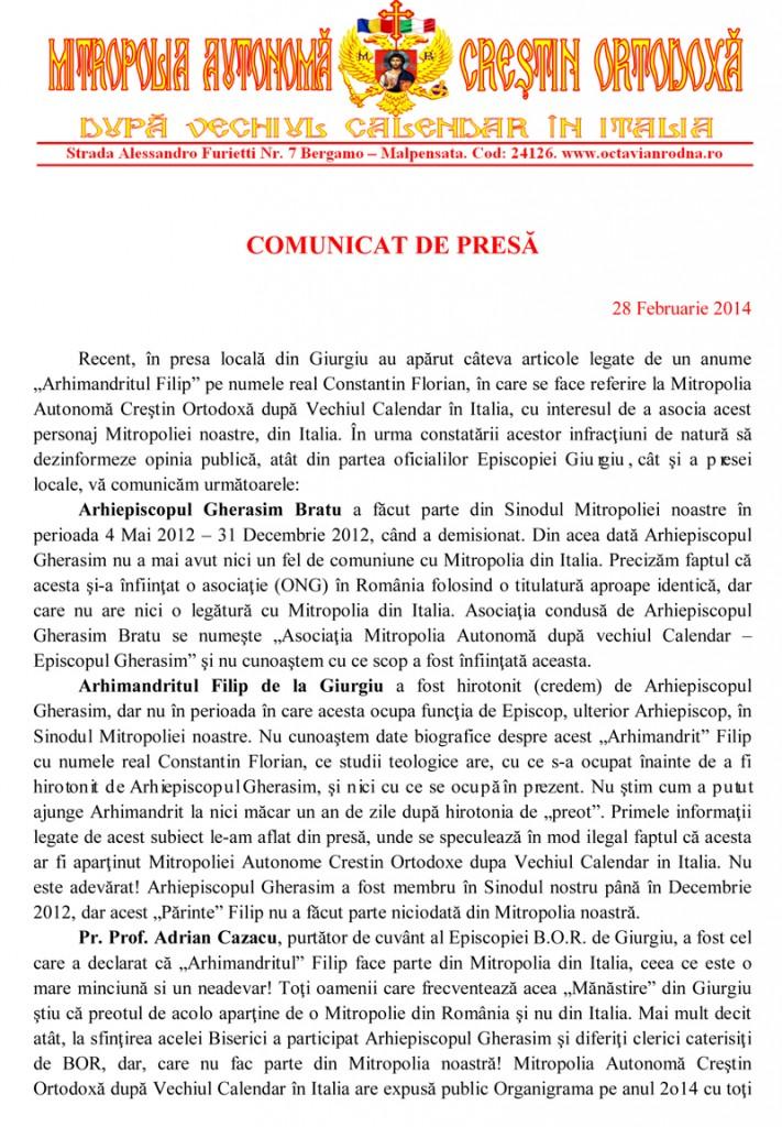 COMUNICAT DE PRESA pag 1