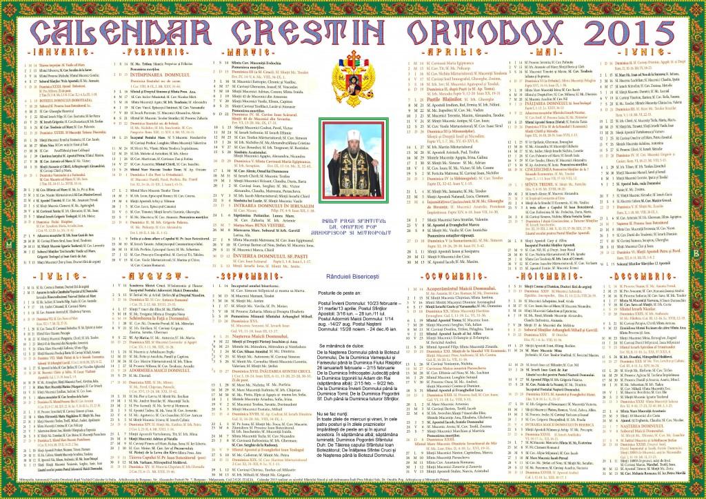 Calendar Stil vechi 2015