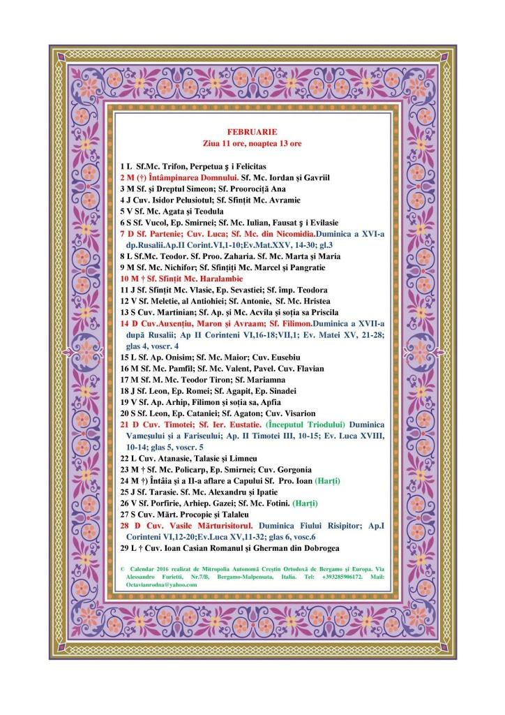 Calendar Ortodox pe anul 2016 – Mitropolia Crestin Ortodoxa dupa ...