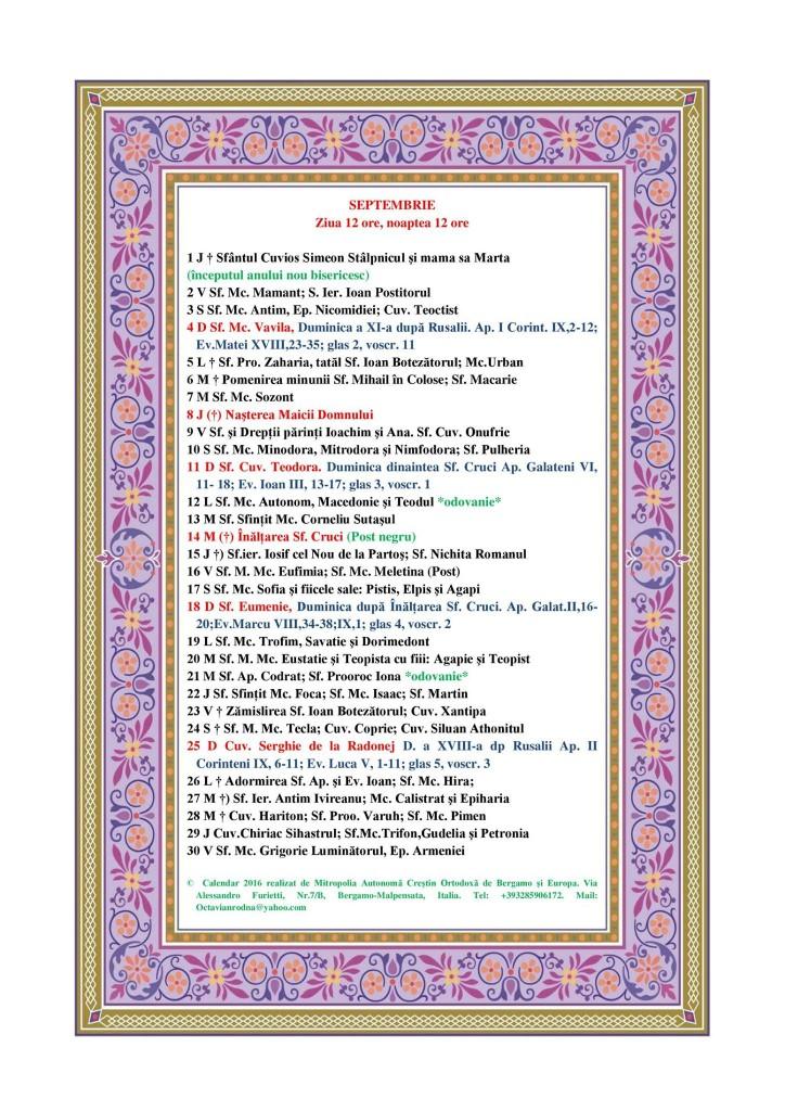 Calendar Crestin Ortodox Februarie 2016 | Calendar Template 2016