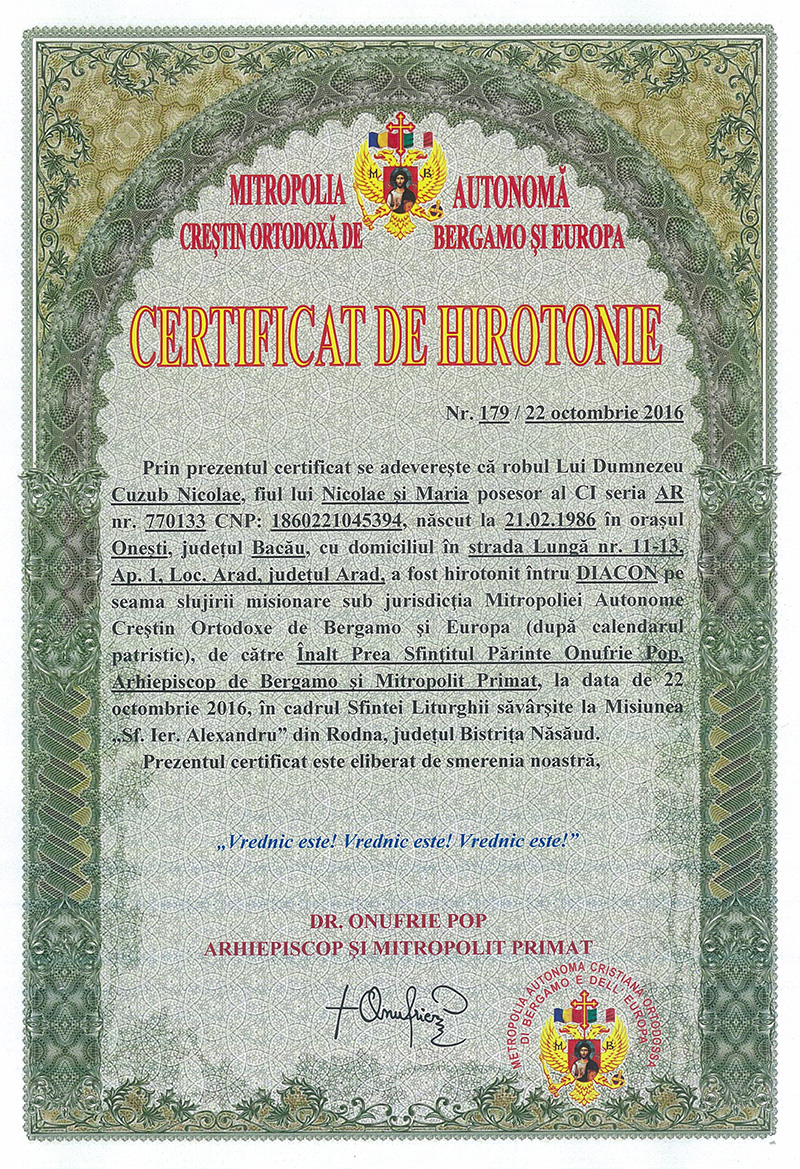 certificat-de-hirotonie-diacon-nicolae-cuzmin