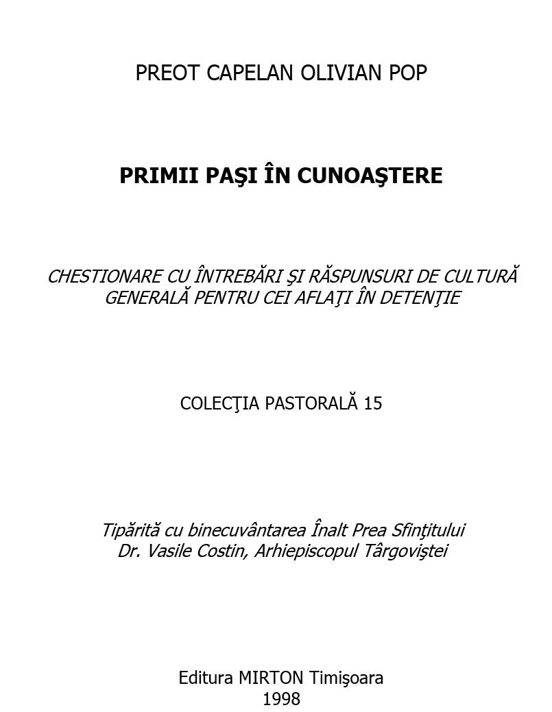 (PRIMII PASI IN  CUNOASTERE(Pr.conf.univ.dr.Octavian Pop)